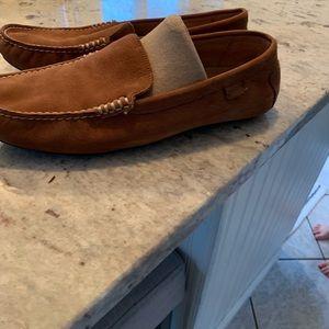 EUC men's tan Ralph Lauren Polo driving loafers